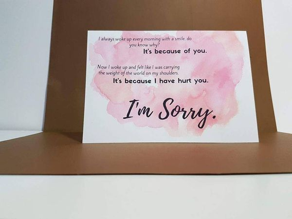 sorry messages for girlfriend on card
