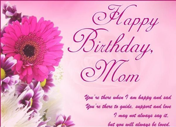 Attractive happy birthday mom images