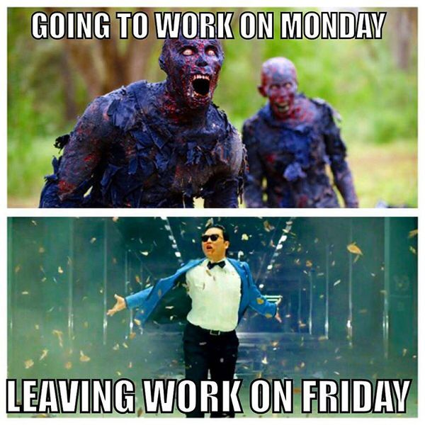 going to work on monday