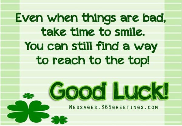 good luck card with positive quotes - Good Luck Quotes
