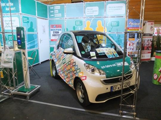 Der Star der Ausstellung: unser E-Smart