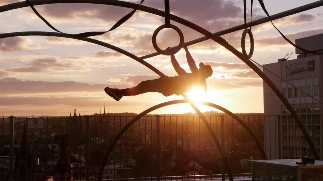 ...in der Luft
