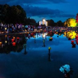 Lichtshow der Superlative im egapark