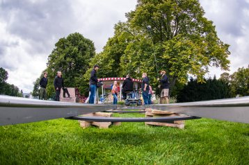 Erfurt , 120917 , Dreharbeiten von Schloss Einstein im egapark Erfurt Im Bild: Dreharbeiten von Schloss Einstein im egapark Erfurt Foto: Steve Bauerschmidt