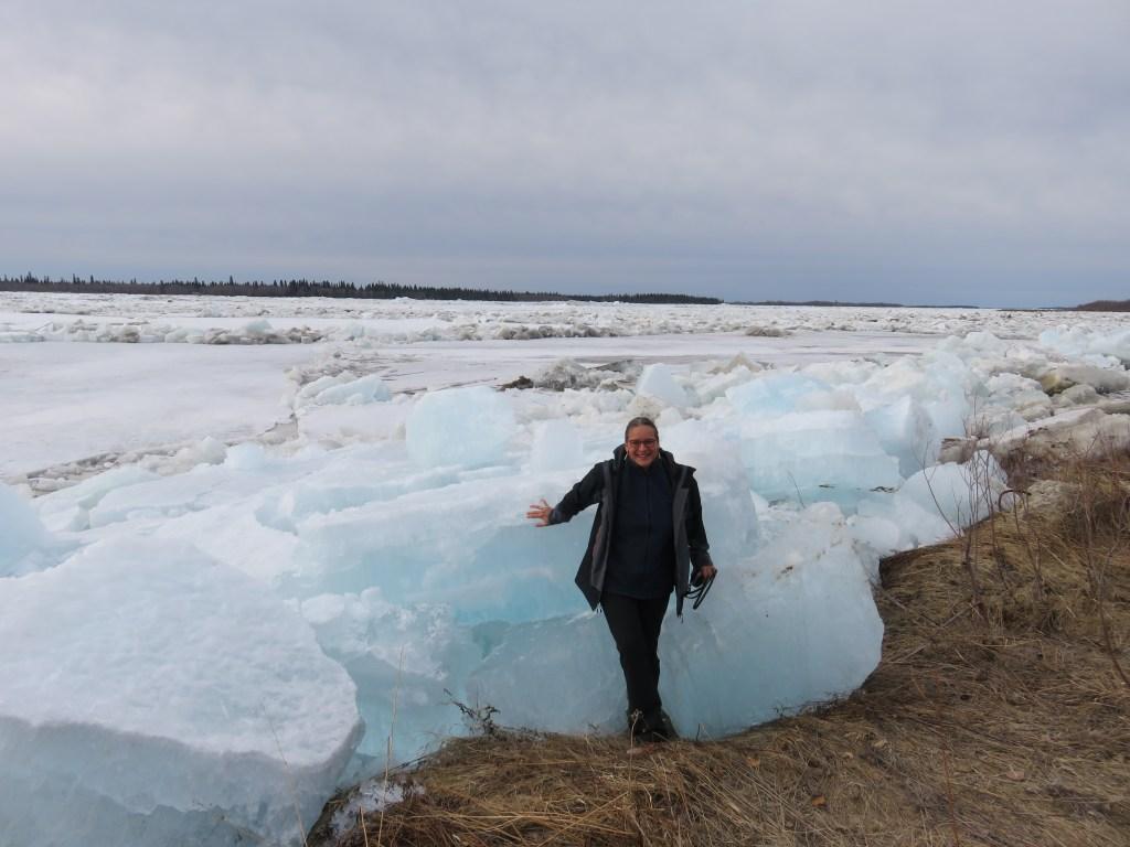 Ice-break am Moose River Kanada 2018