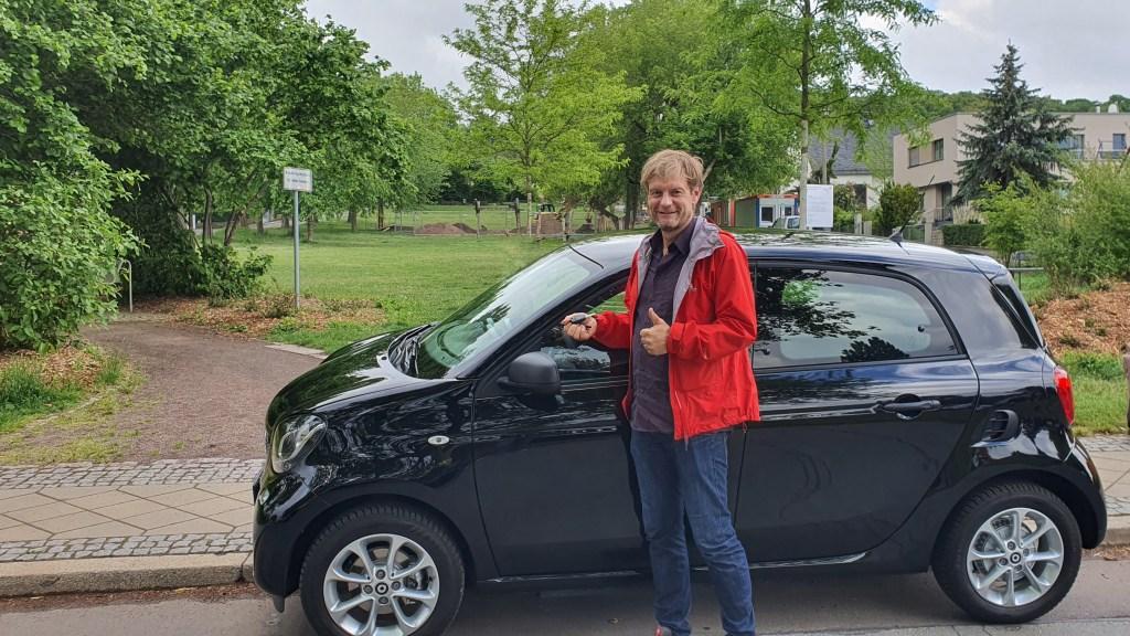 E-Auto-Gewinner Lars Funke