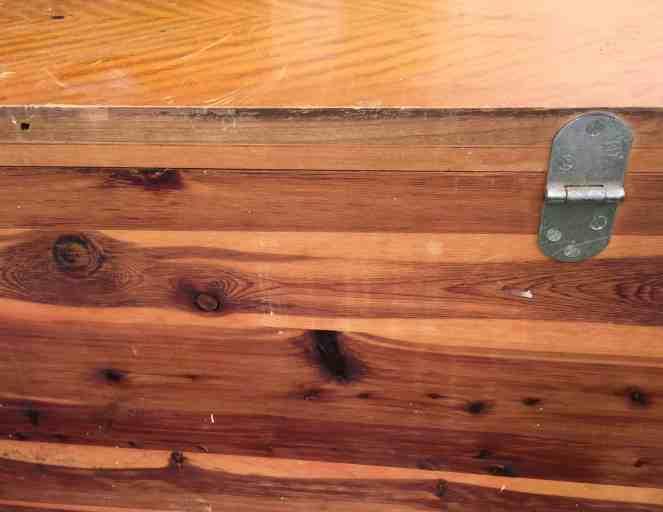 Cedar chest makeover - Back