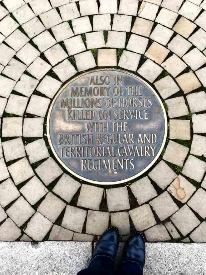 Animals in War memorial in London