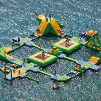 Turn a Dam into a Water-park with the Wibit Sports Park 60
