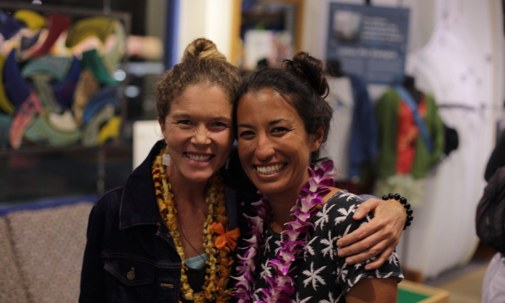 Honored to share the evening with a Hawaiian legend--Haunani Kane--apprentice navigator on the Hokulea, sea level rise expert, and volunteer ocean educator.
