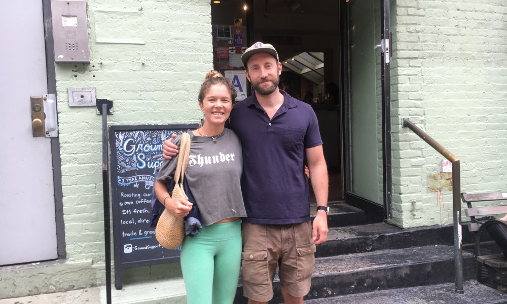 Epic breakfast visit with Steven Sadoff, longtime Swell Voyage supporter, at his delicious and popular coffee stop, Ground Support in the SoHo district.