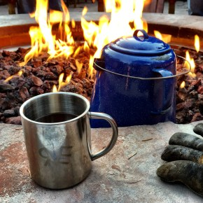 Cowboy Coffee by the Fire