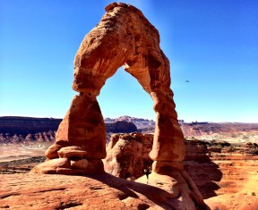 Under Delicate Arch in Moab, UT