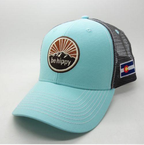 Be Hippy Mountain Trucker Hat