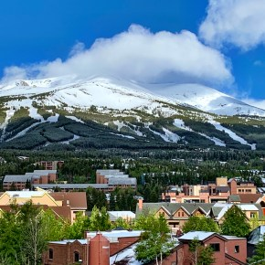 Summer Snow in Breckenridge, Colorado