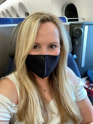 Some airlines are no longer allowing this type of mask and requiring surgical or FFP3, N95 or KN95 mask for flights