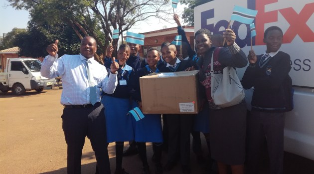 Botswana's FGC Team Receiving Their Robot Kit