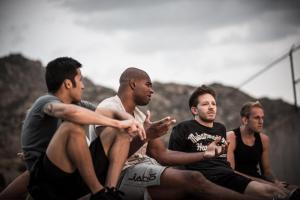 Joby Sanchez, Alistair Overeem, Brandon Gibson