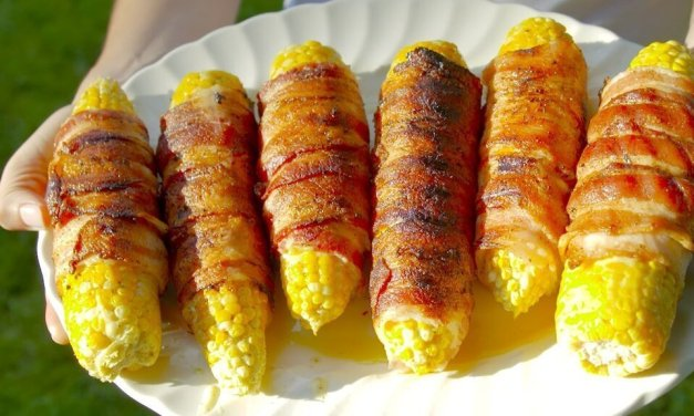 Bacon Wrapped Corn On The Cob | Let's Get Grillin'