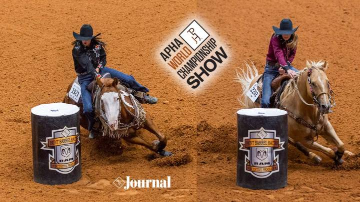 Jimmie Smith & Brittany Barnett show off their NFR Paints at Paint World