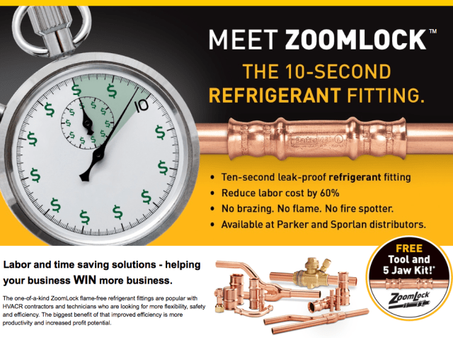 Sporlan ZoomLock - The 10-Second Refrigerant Fitting