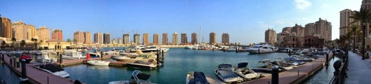 Doha_z_dzieckiem, Doha, stopover, przesiadka, Katar, The_Pearl, Perła, sztuczna_wyspa, tranzyt, Porto_Arabia