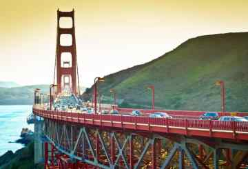 Golden Gate Bridge, Golden Gate, San Francisco, California, Bay Area, cars, traffic, bridge