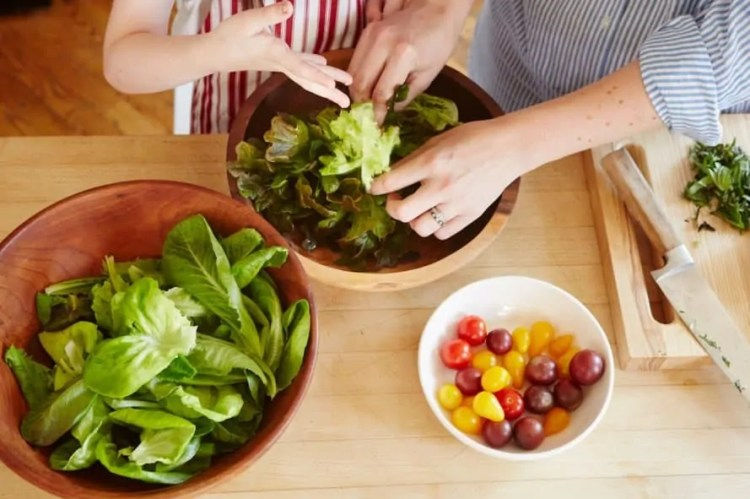 Bowery, produce, vegetables, leafy greens, dinner, cooking, hands