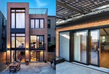 Solar canopy Brooklyn passive plus house by Baxt Ingui Architects