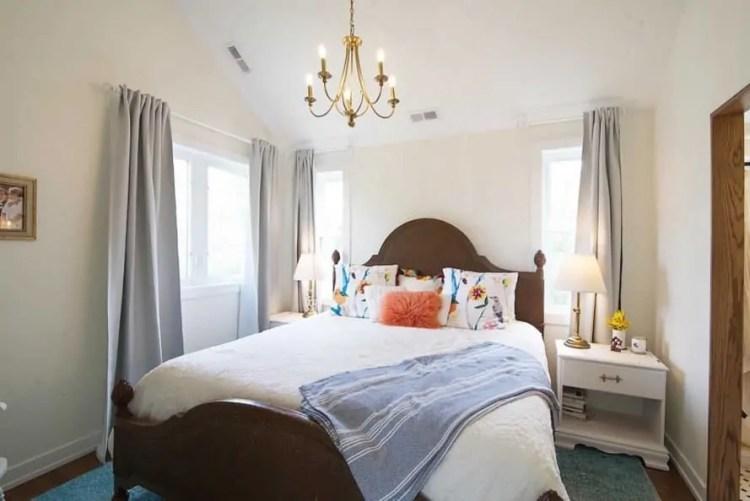 well-lit master bedroom
