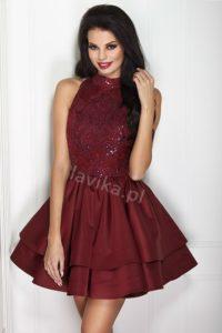 ff169c7d2c ... Sukienka Jaylea w kolorze nude z trenem