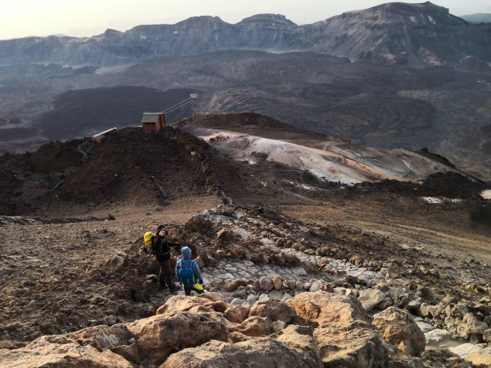 Szlak na szczyt wulkanu El Teide