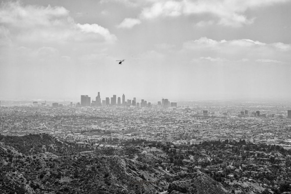 Panorama Los Angeles z Hollywood Sign