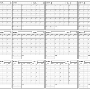 Yearly Wall Planner 48 x 72 by SwiftGlimpse Horizontal Orientation