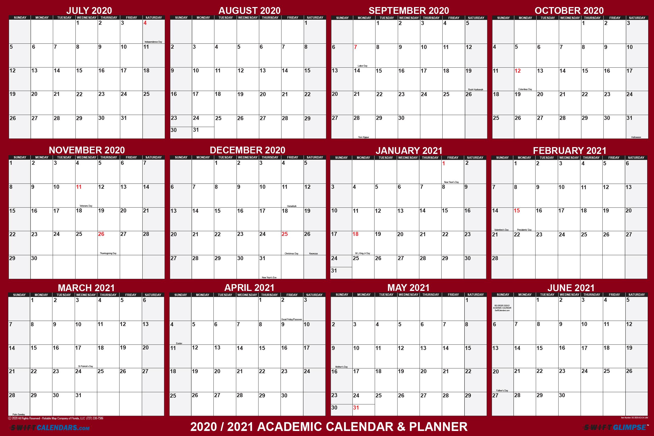 2021 Planning Calendar 2020 2021 Academic Planning Calendar 32