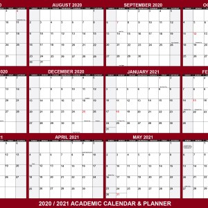2020-2021 school calendar planner for students school supplies