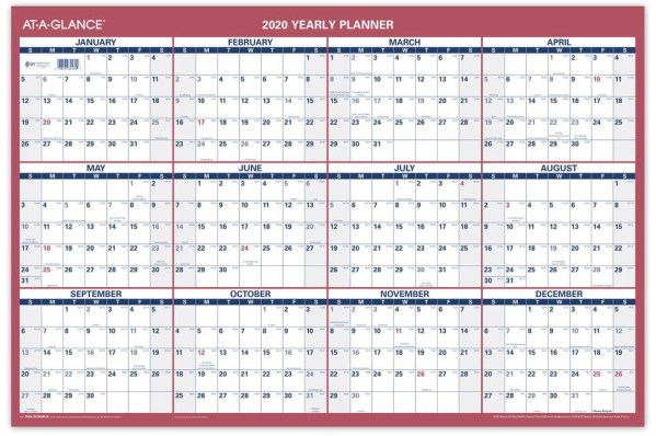 At A Glance yearly wall calendar planner