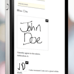 e-signature on phone