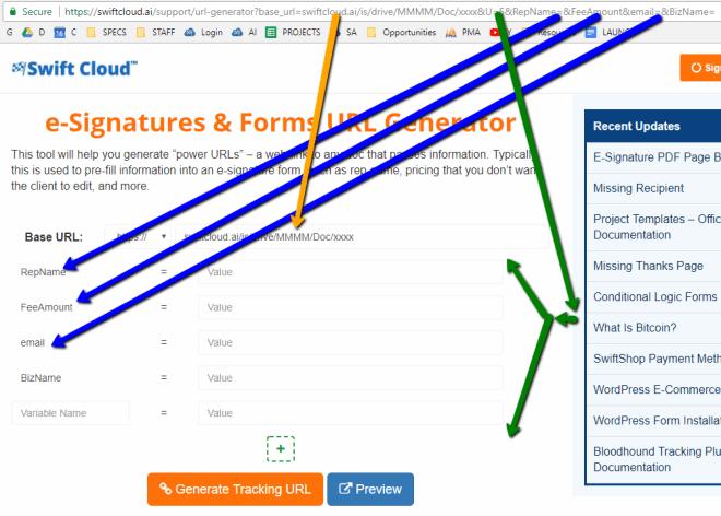e-signature URL generator