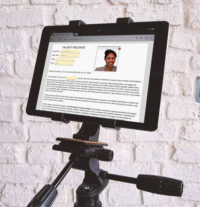 e-Signature Kiosk Mode for Photographer Model