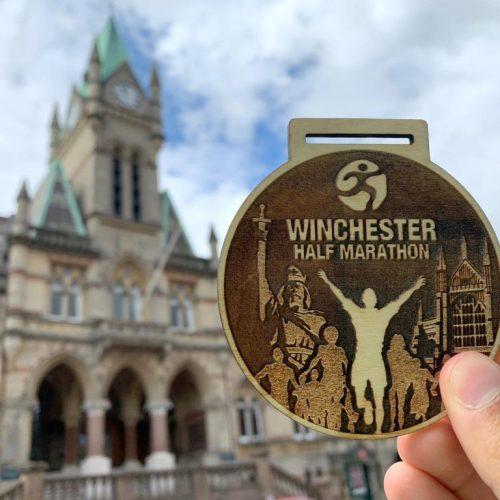 Winchester Half Marathon Medals designed by Swift Event Supplies 2020