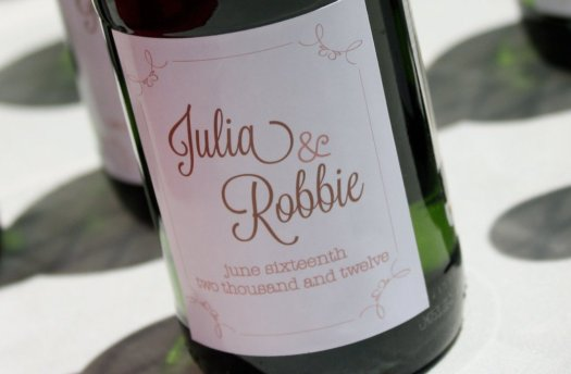 Custom Wine Bottles - creative wedding ideas