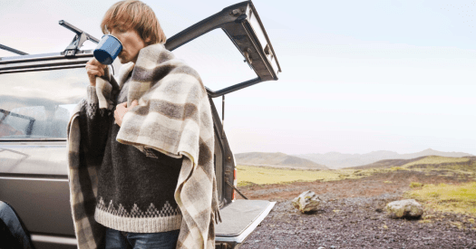 guys in a blanket - Items to always keep in your vehicle