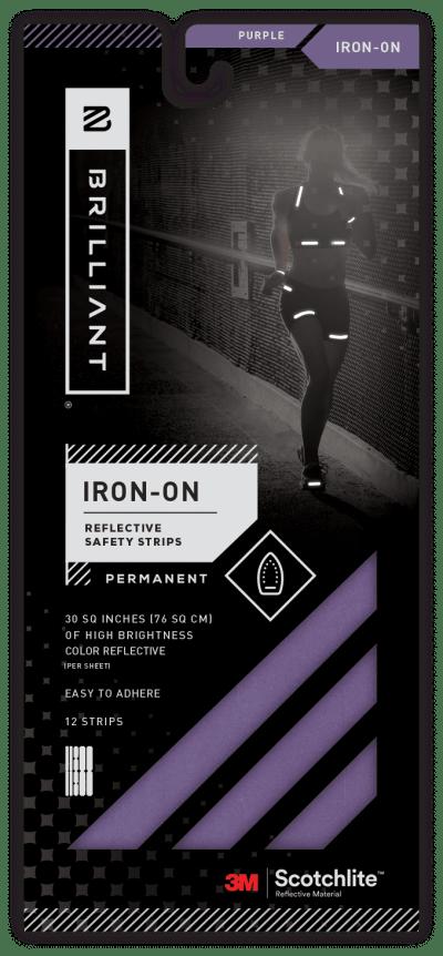 Brilliant Reflective Purple Iron On
