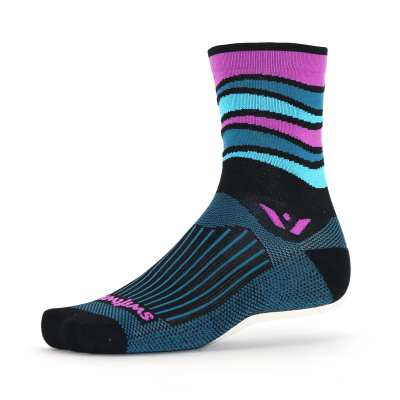 Swiftwick Vision Five Wave Black Pink Sock