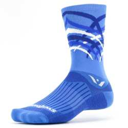 Swiftwick Vision Seven Shred Blue White Sock