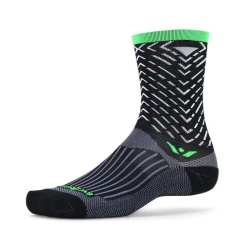 Swiftwick Vision Seven Tread Black Green Sock