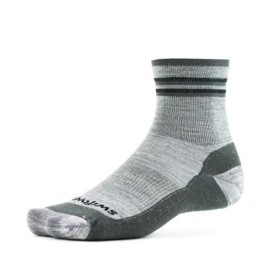 Swiftwick Pursuit Hike Four Ultralight Heather Gray Sock