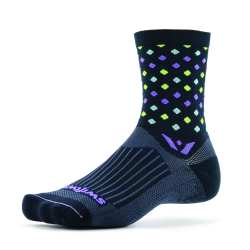 Swiftwick Vision Five Razzle Black Purple Sock