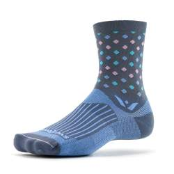 Swiftwick Vision Five Razzle Gray Light Blue Sock